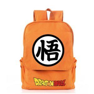 Dragon Ball Anime GO Kanji Symbol Canvas Backpack