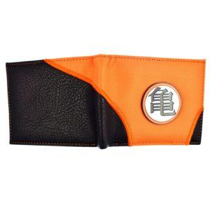 Design Dragon Ball Z KAME Symbol Orange and Black Color Wallet