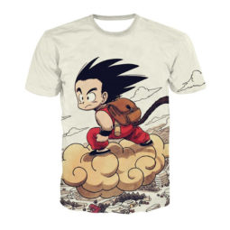 Dragon Ball Z Little Goku Riding the Nimbus Cloud T-Shirt