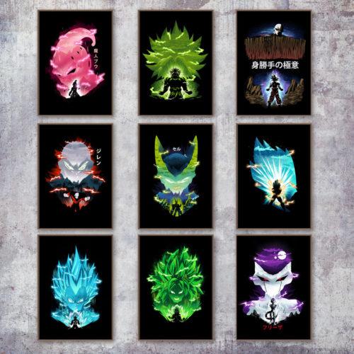 Dragon Ball Portrait Canvas Posters