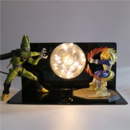 DBZ Piccolo VS Vegeta Deathly Flash Ball 3D DIY LED Light Lamp