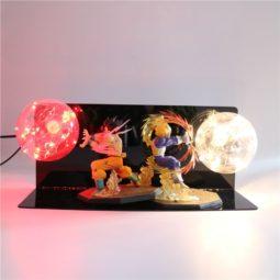DBZ Goku VS Vegeta Kamehameha Double Flash Ball Attack Super Cool Night Lamp