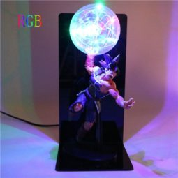 Bardock Saiyan Warrior Final Spirit Genki Dama DIY Lamp