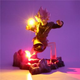 DBZ Goku Black Wave Flash Ball DIY 3D LED Light Lamp
