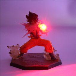 Dragon Ball Kamehameha Attack Super Saiyan Son Goku DIY Action Figure Lamp