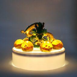 DBZ Green Shenron 1-7 Star Dragon Ball White Base DIY 3D Lamp