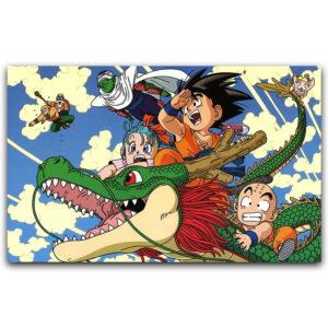DBZ Goku Kid Piccolo Krillin Canvas Wall Art