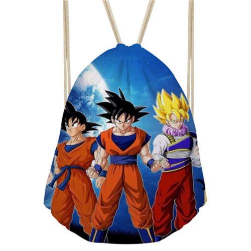 Goku Gohan Trunks Dragon Ball Drawstring Bag