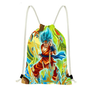DBZ Super Goku Drawstring Backpack