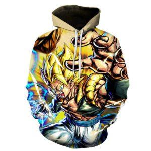 Dragon Ball Z Legendary Siyan Warrior Gogeta Pocket Hoodie