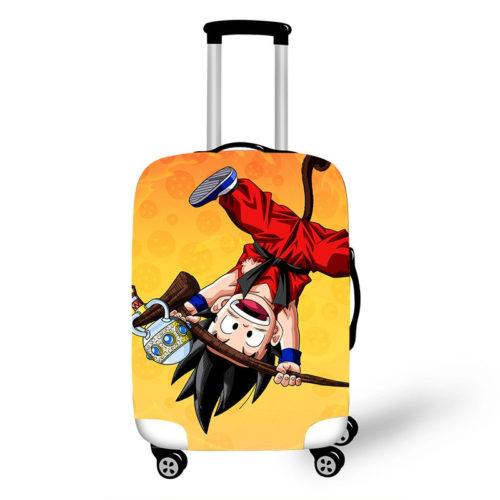 Dragon Ball Goku Kid Playing Suitcase Elastic Protective Covers