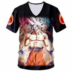 Dragon Ball Z Ultra Instinct Son Goku 3D V-Neck T-Shirt