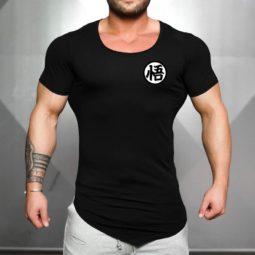 Brand Dragon Ball Z GO Kanji Symbol Slim Fit Gym Tees