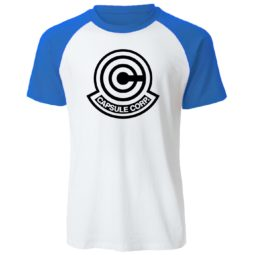 Dragon Ball Z Capsule Corp 100% Cotton Casual Raglan Tee