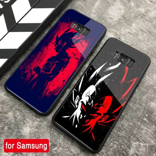 Dragon Ball Z Hard Back Tempered Glass Cases for Samsung Galaxy Note 8 9 10 S8 S9 Plus S10 plus S10 Lite