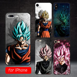 Dragon Ball Z Super Saiyan Son Goku Soft TPU Black Cases for iPhone 6 6s 7 8 6 plus X XR XS MAX