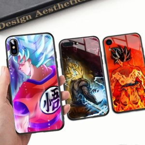 Dragon Ball Z Super Saiyan Son Goku Tempered Glass Cover Cases for iPhone 6 6S 7 8 plus X XR XS MAX