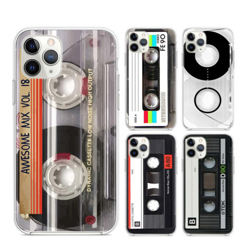 Classical Old Cassette Transparent Clear TPU Covers for iPhone 11 11Pro XS MAX XR X 8 7 6S 6 Plus 5S