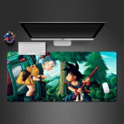 Dragon Ball Z Goku Kid Bulma Computer Desk Mats Gaming Mouse Pad