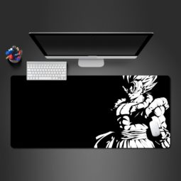 Black & White Gogeta Portrait Dragon Ball Z Gaming Mouse Pad Practical Computer Desk Mats