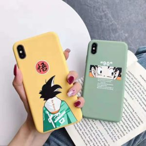 Dragon Ball Z Super Son Goku Soft Silicone Covers for iPhone 7 6 6s 8plus X XR XS Max