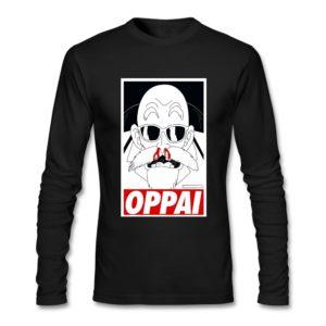 Black Dragon Ball Z Roshi OPPAI Long Sleeve T-Shirt