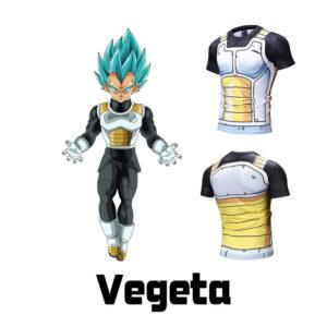 Dragon Ball Vegeta 3D Digital Print Short Sleeve T-Shirt