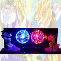 Dragon Ball Z Goku VS Vegeta Colorful Flash Ball DIY Bedroom LED Night Light