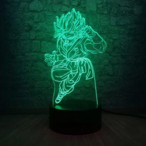 Dragon Ball Cartoon Figure Son Goku Super Saiyan 3D Night Light Table Lamp