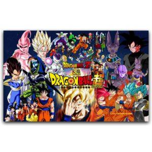 Dragon Ball Z Classic Anime Silk Art Poster