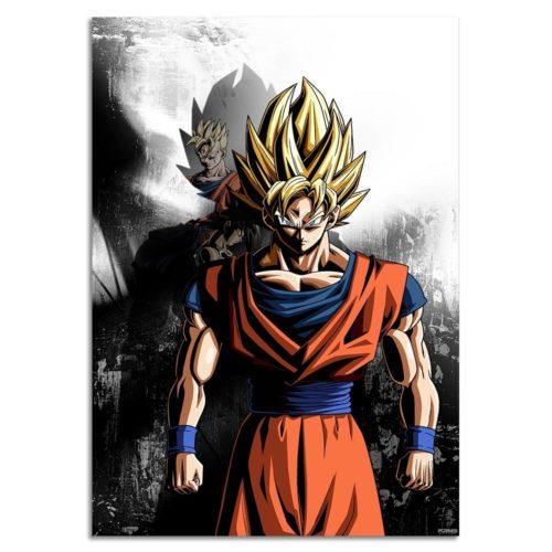 Dragon Ball Z The Mighty Son Goku Silk Poster Wall Art