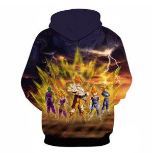 DBZ Goku Gohan Vegeta Gogeta Piccolo The Super Saiyans 3D Hoodie