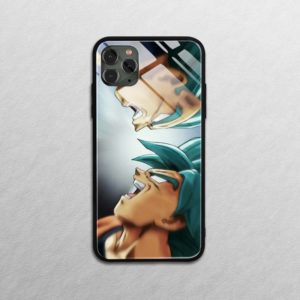 Dragon Ball Super Saiyan Goku Tempered Glass Phone Cases for iPhone SE 6 6s 7 8 plus x xr xs 11 Pro