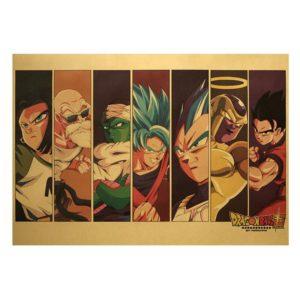 Anime Dragon Ball Portraits Vintage Poster
