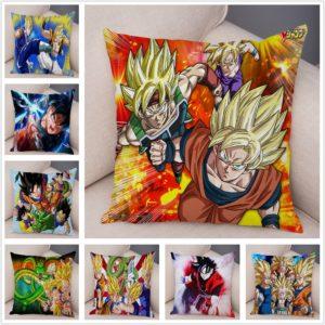 Dragon Ball Cushion Covers for Sofa Home Decor 45x45cm The Saiyan Fighters Series