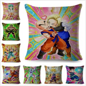 Colorful Japan Anime Dragon Ball Pillow Cases Cushion Cover 45x45cm