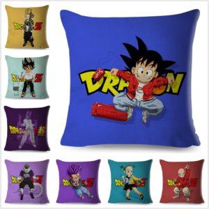Dragon Ball 45*45cm Cushion Covers Colorful Cartoon Saiyans Serie