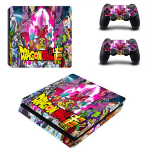 DBZ Goku & Saiyans Fighters Vinyl Skins for SONY PS4 SLIM Game Console & 2 Controllers