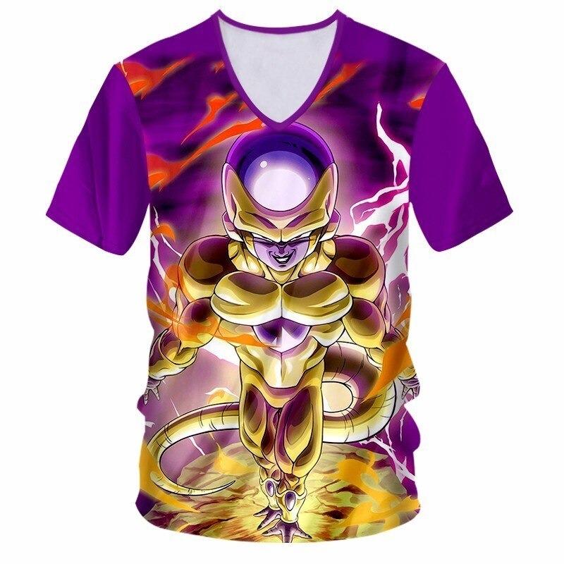 Dragon Ball Z Frieza Gold V-Neck T-Shirt