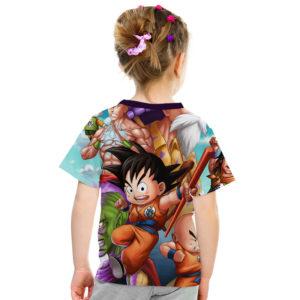 Dragon Ball Z Goku Kid Attach 3D Graphic Kids Casual Tee - Back
