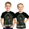 Call of Duty Saiyan Warrior Dragon Ball 3D Graphic Anime Tee for Kids