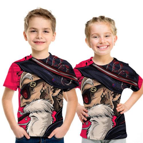 Dandy Master Roshi Kame Sennin Pink DBZ T-Shirt for Kids