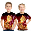 Dragon Ball Z Powerful Son Goku Amazing 3D Graphic Kids Tee
