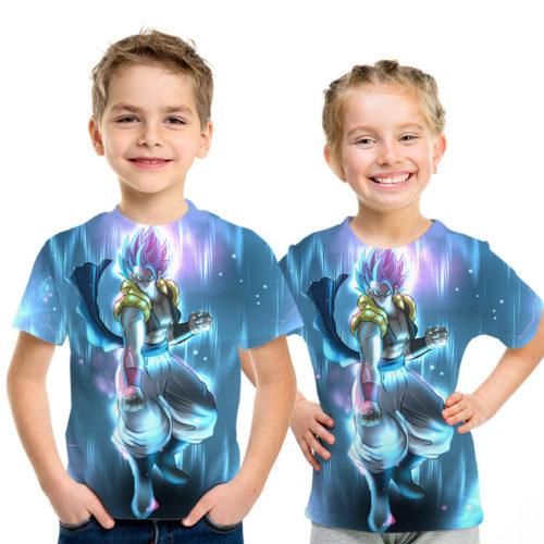 Blue Aura and the Saiyan Fighter Gogeta Amazing Dragon Ball Anime 3D Graphic Tee