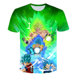 Broly Gogeta Goku Vegeta Powerful Attack Amazing 3D Graphic Tee