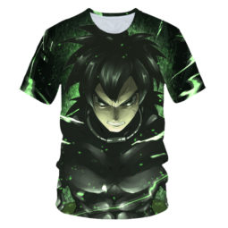 The Dark Side of Broly Green 3D Graphic Summer Tee
