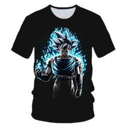 The Legendary Saiyan Warrior Son Goku Blue Aura Amazing Summer Tee
