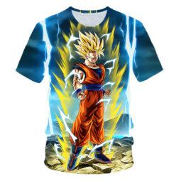 Son Goku Ready to Fight Dragon Ball Z Anime Amazing 3D Graphic Tee